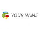 Zeichen, Zeichnung, Symbol, Signet, Kreis, Kugel, Wellen, Farbig, Logo