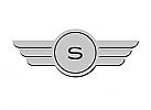 Zeichen, Zeichnung, Signet, Symbol, Flügel, Logo, Initiale, Buchstabe