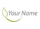 Ökologie, Zeichen, Zeichnung, Symbol, Signet, Blatt, Lächeln, Logo