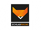 Zeichnen, zweifarbig, Signet, Symbol, Logo, Fuchs