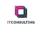 Zeichen, zweifarbig, Signet, Symbol, Logo, Technik, IT, Beratung, Consulting