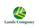 Logo, rund Abstrakt, Initiale L L, Pfeile, Garten, Land