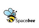 Logo, Biene, Astronautenbiene, Markenzeichen, Label,