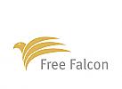 Logo, Falke, Falcon, Dienstleistung, Finanzen, Sicherheit