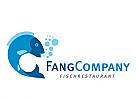 Logo, Fisch, Fischrestaurant, Fischfang, Markenzeichen, Label, Meeresfrüchte