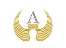 Logo, Flügel, Initial A austauschbar, Markenzeichen, Label