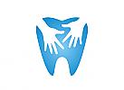Zähne, Zahnärzte, Zahnmedizin, Zahnpflege, Zahnarzt, Zahn, Hände, Logo