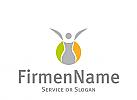 Logo, Zeichen, Frau auf Kreis, Frauenarzt, Gynäkologe