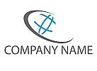 Erdball und Pfeil, Planet, Logo
