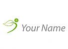 Ökologie, Zeichen, Zeichnung, Person, Blatt, Pflanze, Logo