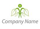 Öko, Zeichen, Zeichnung, Person, Pflanze, Baum, Logo
