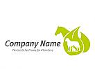 Logo, Pferd, Hund, Katze, Blätter, Tierarzt, Tierarztpraxis, Kleintiere