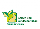 Logo, Markenzeichen, Blätter, Weg, Landschaftsgärtner, Landschaftsbau, Außenanlagen