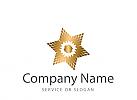 Logo, Markenzeichen, Goldstern