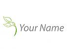 Pflanze, Blätter in grün Logo