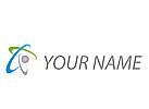 Ökologisch, Zeichen, Zeichnung, Symbol, Signet, Kugel, Ellipsen, Logo