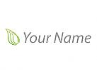 Drei Blätter in grün Logo
