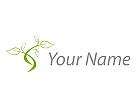 Baum, Pflanze, Blätter, Logo
