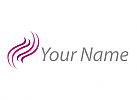 Zeichen, Zeichnung, Wellen, Haare, Kosmetik, Logo