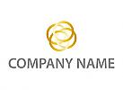 Zeichen, Zeichnung, Vier Kreise in Gold Logo
