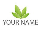 Vier Blätter, Pflanze Logo