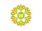 Logo, Markenzeichen, Blüte, Blume, Initial W