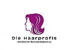 Logo, Markenzeichen, Kopf, Frisur, Haare, Friseurladen, Salon