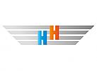 Zeichen, zweifarbig, Signet, Symbol, Logo, Flügel, Buchstabe, H
