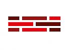 Zeichen, zweifarbig, Signet, Symbol, Logo, Handwerk, Bau, Klinker, Verbund