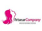 Logo, Markenzeichen, Friseursalon, Frisör, Salon, Kopf, Haare