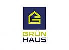 Zeichen, Signet, Logo, Haus, Treppe, Dach, Buchstabe, G, Bau, Handwerk