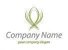 Öko, Zeichen, Zeichnung, Wappen aus Pflanzen, Blätter, Logo