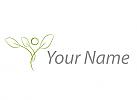 Zeichen, Zeichnung, Symbol, Signet, Person als Baum, Pflanze, Logo