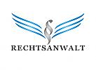 §, Zeichen, zweifarbig, Signet, Rechtsanwalt, Flügel, Adler, Logo