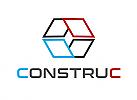 Zeichen, Zeichnung, zweifarbig, Signet, Symbol, Logo, Dach, Fenster, Technik, Konstruktion