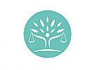 §, Zeichen, Signet, Symbol, Waage, Justitia, Baum, Logo, Rechtsanwalt