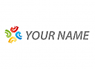 Wellen, Halbkreise farbig Logo