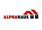 Zwei Dächer, zweifarbig, Zeichen, Symbol, Logo Dachdecker, Handwerk, BAU