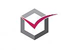 Zeichen, zweifarbig, V, Logo
