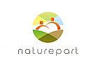 Öko, Zeichen, Symbol, Gruppe, Menschen, Paar, Erde, Natur