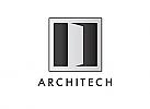Zweifarbig, Zeichen, Symbol, Signet, Logo, Architekt, Tür, Bau, Design
