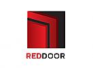 Zweifarbig, Zeichen, Symbol, Signet, Logo, Türen, Zarge, Rahmen