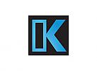Zweifarbig, Zeichen, Symbol, Quadrat, Logo, K