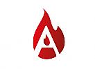 Zeichen, Symbol, Logo, Flamme, Feuer, Heizung, Buchstabe, A