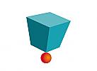 Logo, Markenzeichen, Quadrat, Kugel, Wissenschaft, Technik, IT solution