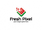 Ö Frische Pixel Logo, Wassermelone, Studio, Marketing, Kreativ, Daten