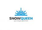 Ö Schneekönigin, Schneeflocke, Winter, Ski, Crown, Krone, Logo