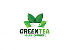 Ö Green Tea, Grüner Tee Logo