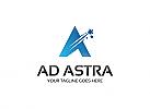 Ö Ad Astra, Buchstabe A, Stern, Star, Stars Logo