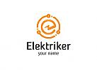 Ö, Elektriker, Blitz, Stecker, Elektro, Kabel, Strom Logo